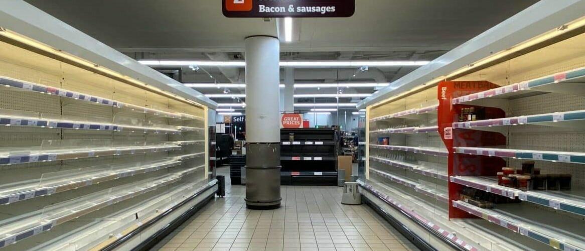 coronavirus empty supermarket australia